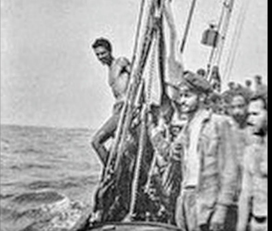 Canarios emigrando a Venezuela. Gregorios wanderfamily Tenerife