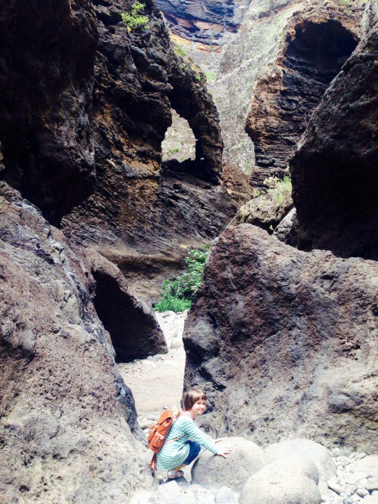 Barranco de Masca, Masca Schlucht. Gregorio wanderfamily Tenerife. Victor Camejo. Wandern Hiking Senderismo