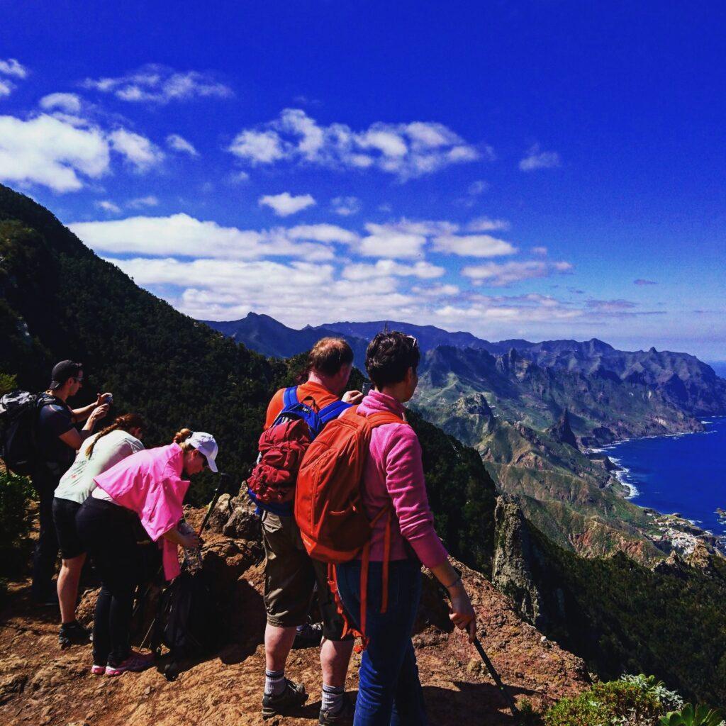 Anaga. Gregorios wanderfamily Tenerife