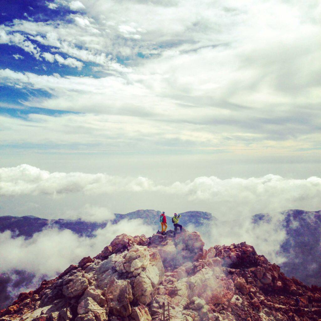 Teide top. Gregorios wanderfamily Tenerife