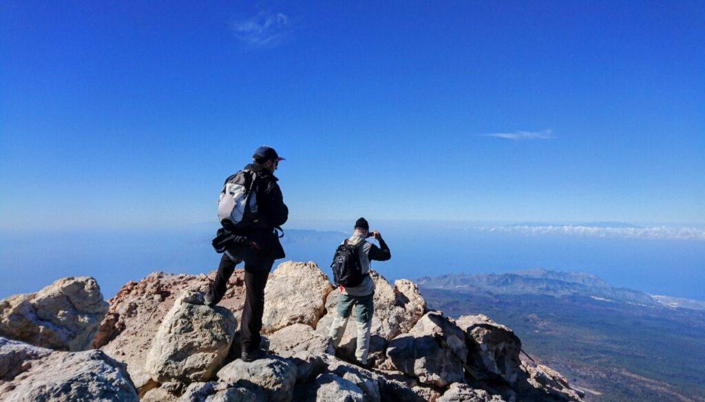 Teide pico, senderismo, Gipfel, Spitze, wandern. top. Gregorios Trekking Tenerife